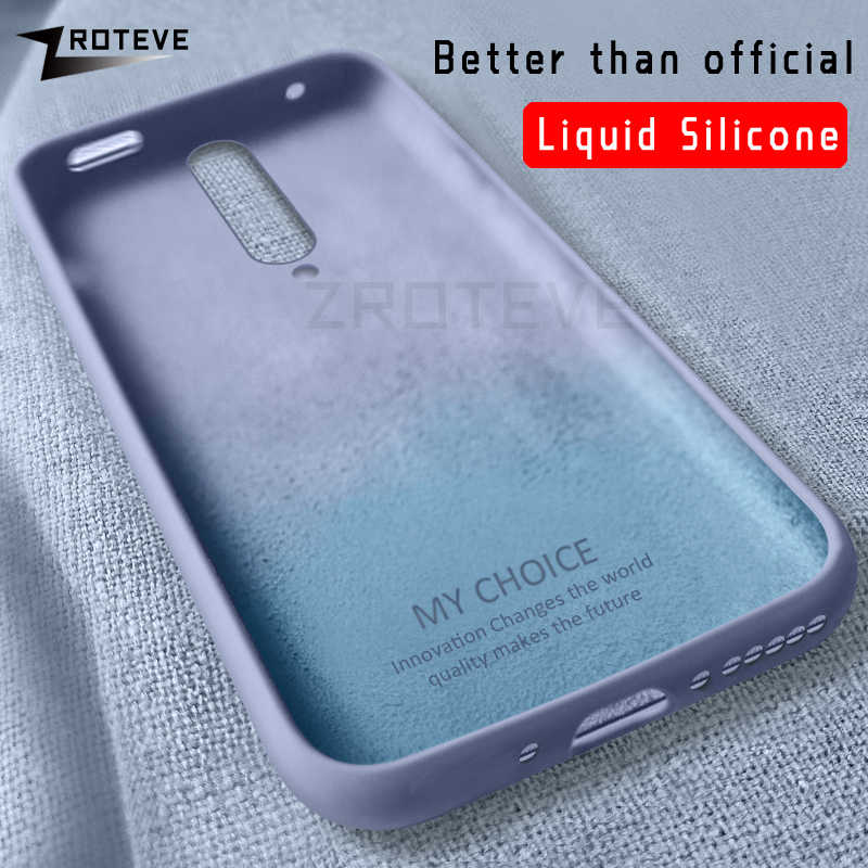 Funda One plus 8 Pro ZROTEVE de silicona líquida para Oneplus 8 7 7T Pro 6 T 6 T funda suave para One plus Nord 7 7T Pro fundas