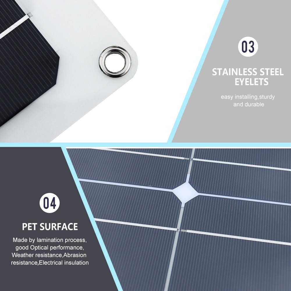 Sistema de painel solar flexível 100w 12v
