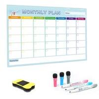 Yiabi A3 ежемесячный планировщик магнитная доска Сообщения доска для школы дома доска объявлений магнитный календарь на холодильник 30*42 см