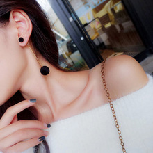 Korean Fashion Geometric Ball Beads Dual-use Multicolor Earrings Autumn and Winter Models for Women