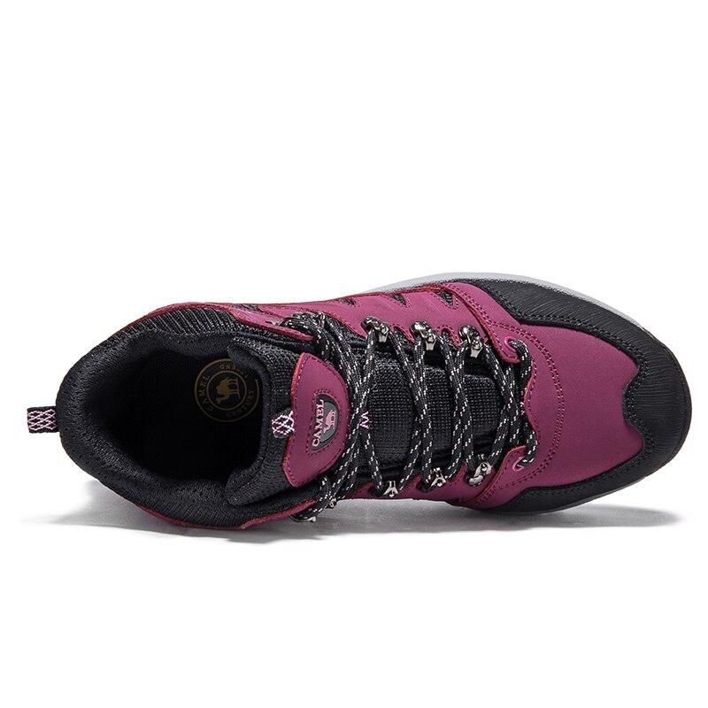 Image 2 - CAMEL/Новинка; женская обувь; высокие походные противоскользящие  дышащие ботинки для альпинизма; треккинговые ботинки; уличная спортивная  обувьПоходная обувь