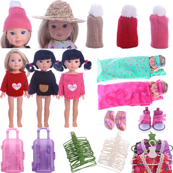 Sweater Wool Hat Cotton Nightgown Accessories 5 Cm Doll Shoes For 14.5 Inch Wellie Wisher&Nancy&32-34 cm Paola Reina Russian Toy image