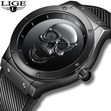 LIGE Business watches Top luxury brand Quartz watch men military waterproof Silicone wristwatch wristwatch Relogio Masculino