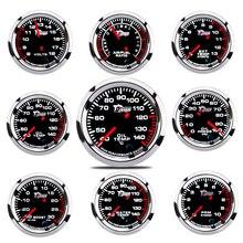 """2 """"52 мм Автомобильный манометр, манометр для воды, масла, масла, давления, топлива, вольт, датчик, воздушный топливный коэффициент, температур..."""