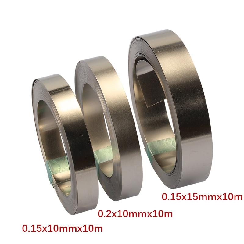 10/15mm X0.15/0.2 10M  Nickel Strip Tape For Li 18650 Battery Spot Welding Compatible For Spot Welder Machine