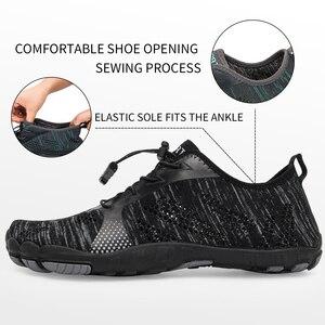 Image 3 - Zapatos acuáticos para hombre y mujer, zapatillas de playa transpirables, para deporte de senderismo, secado rápido, agua de río y Mar