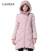 GASMAN 2019 zima kolekcja marka moda grube kobiety zima Bio dół kurtki z kapturem kobiet parki płaszcze Plus rozmiar 5XL 6XL 1702