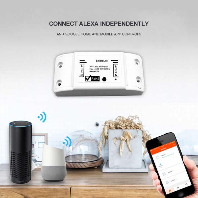 DIY WiFi Smart Light Switch Universal Breaker Timer Wireless Remote Control Professional Controller Works With Alexa Home