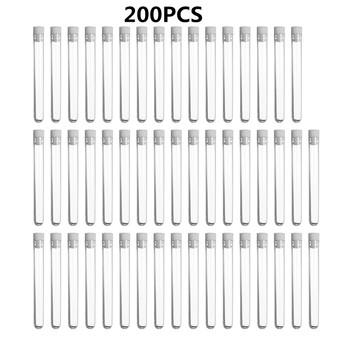 200 sztuk przezroczysty z tworzywa sztucznego probówki z czapką 12x100mm w kształcie litery U dno długie przezroczyste probówki materiały laboratoryjne tanie i dobre opinie KICUTE CN (pochodzenie) Test Tube Cleaner