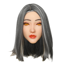 KOOMIHO Christine Soft Silicone Transgender Mask Crossdress Cosplay Mask Handmade Makeup Mask for Face Shemale Drag Queen 3G  - buy with discount