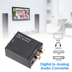 Image 2 - محول صوت رقمي إلى تناظري DAC TOSLINK ، SPDIF بصري إلى L/R RCA ، مقبس صوت 3.5 مللي متر لـ HD DVD Amp HDTV Home