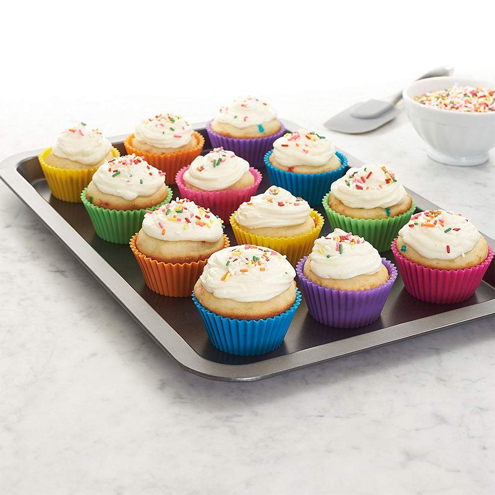 6pcs mini Silicone Cake Mold Muffin Cupcake bakeware Dishes Pan Form to Bake Dessert Decorating Tools Bakeware Kitchen Dining