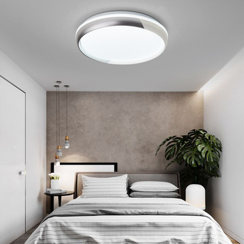 Modern minimalist round bedroom LED ceiling light remote control dimming living room study restaurant hotel  lamp bwart new arrival black white minimalist led ceiling light for living study room bedroom aluminum modern led ceiling lamp