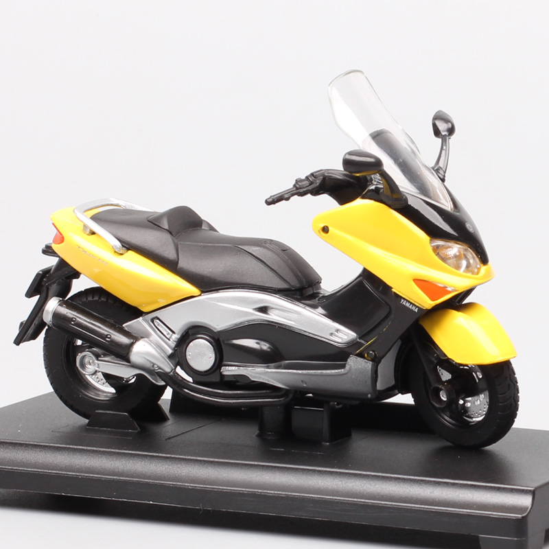 Kids 1/18 Scale Welly 2001 Yamaha XP500 Tmax Zoutjee Maxi Scooter Motorcycle Diecast Models Bike Toys Vehicle Of Souvenir Hobby