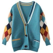 Детские кардиганы свитера для девочек вязаная верхняя одежда