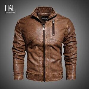 Faux Fur Coat Men Plus Size Jackets Men's PU Leather Coat Slim Fit Faux Leather Motorcycle Mens Fur Coats and Jackets Male M-2XL