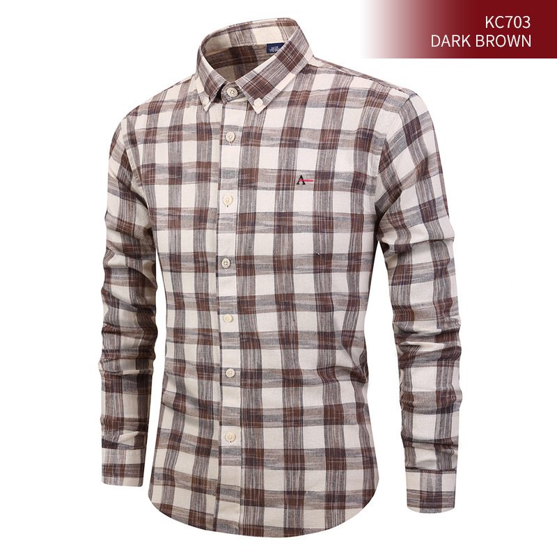 2020 New Men Shirt Men's Casual High Quality Men's Cotton Men's Casual Plaid Social Alertory Camisate Tommis Sergio K Shirts