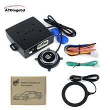 Alarma de coche, alarma de botón de arranque de motor, bloqueo RFID, arranque de ignición, inmovilizador de parada de entrada sin llave