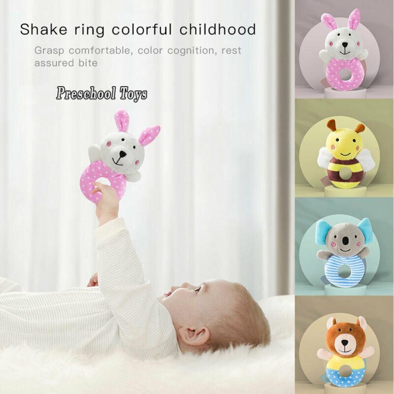 New Baby Rattles Cartoon Cute Koala Infant Baby Shake Bell Rattles Newborn Toy Baby Sleeping Hand Toys