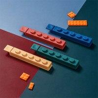 Kreative Lebensmittel Abdichtung Clip Küche Gebäude Block Frische-halten Clip Snack Kunststoff Tasche Feuchtigkeit-beweis Abdichtung 4 stücke clips