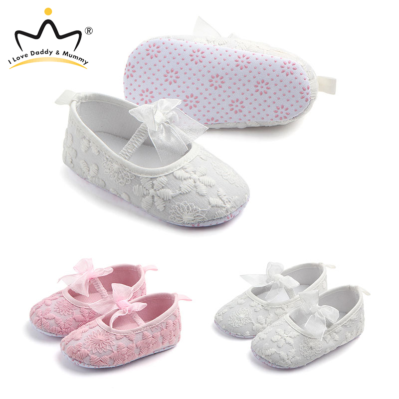 Spring Summer New Lace Flower Princess Baby Girl Shoes Anti Slip Newborn Toddler Girls Shoes Floral Baby Shoes