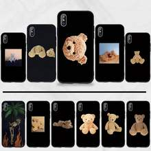 Palm-los angeles urso caso de telefone para iphone 11 12 pro xs max 8 7 6s plus x 5S se 2020 xr