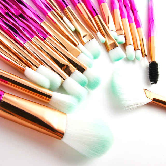 Professional Makeup Brushes Set Face Foundation Brush Eye Eyeshadow Fan Lip Eyebrow Eyeliner Eyelash Crystal Make Up Brush Kit 4