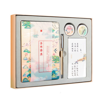 Cute color page notebook Chinese style hand book thickened notepad hand-drawn diary gift