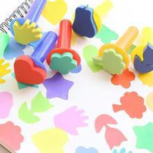6pcs DIY Painting Sponge Brush Set Sponge Stampers Graffiti Ink Stamp Drawing Tools