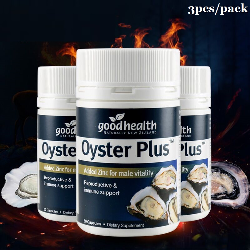 NewZealand GoodHealth Oyster Plus Marine Supplement 60Caps for Men Health Vitality Immune Support Reproductive Health Wellbeing 3
