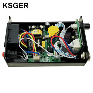 Image 4 - KSGER Hot Air Gun SMD Rework Station GX16 8 Solder Dryer Handle Electronic OLED T12 Nozzle Stand DIY Tools Quick Heating 700W