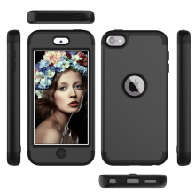 For Apple iPod Touch 7 Case 3 in 1 Armor Dual Layer TPU Bumper PC Hybrid Shockproof Protective Cover for