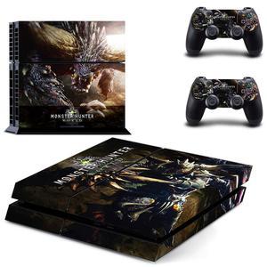 Image 4 - Łowca potworów świat PS4 naklejka Play station 4 skórka naklejka naklejka na konsolę PlayStation 4 PS4 i kontroler skórki Vinyl