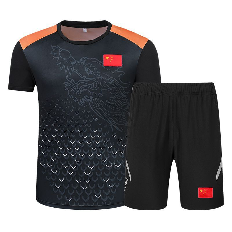 Summer New Style Chinese Team Couples Sports Parent And Child Set Men And Women Martial Arts Instructor Sanda Boxing Sports Clot