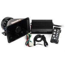 Yhaavale 122db alto carro polícia sirene amplificador dc12v 100w multi-tons de emergência pa sistema com preto plástico alto-falante & mic 6203p