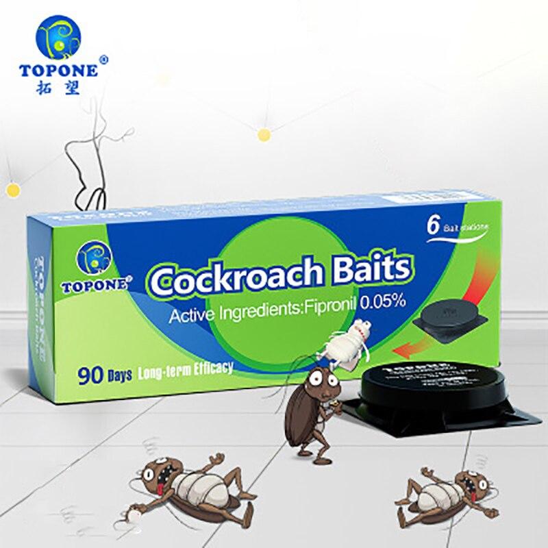 6 шт. Новый таракан убийца приманка сила тараканы ловушка отпугиватель убийство ловушка вредитель контроль кухня эффективный таракан убийство