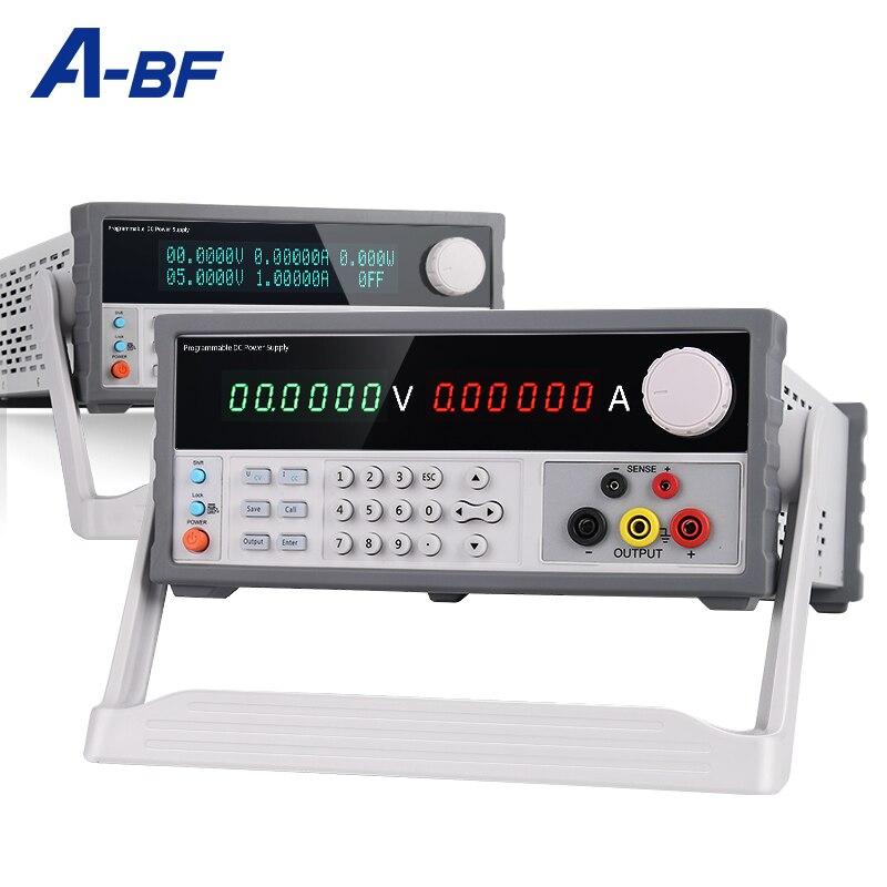 A-BF программируемый 6 цифр источник стабилизированного Питание 110V/220V низкий уровень пульсаций лаборатории силовая скамья источник Напряжен...