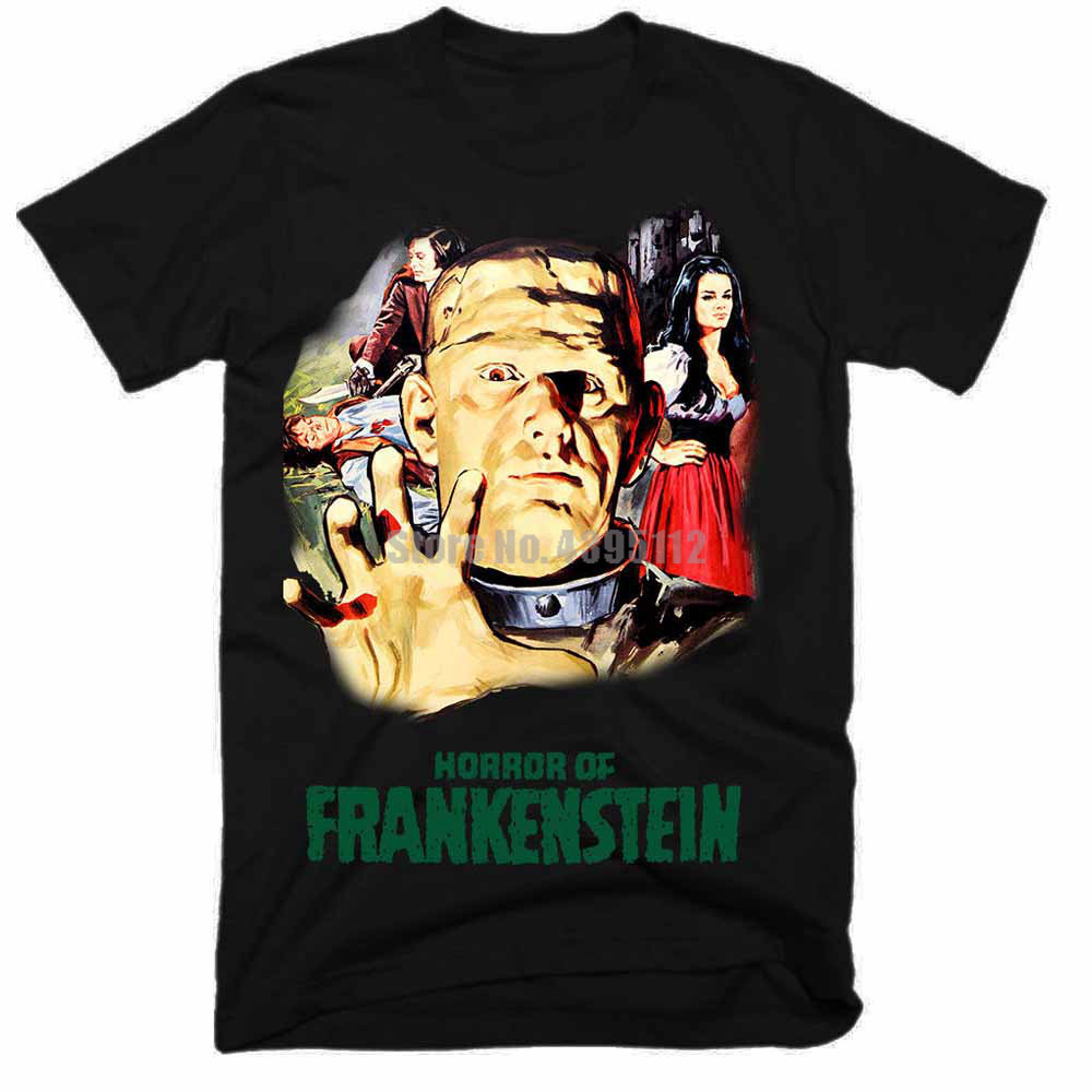 Horror Of Frankenstein Movie Man Vintage Tshirt Likee T-Shirt Likes Tshirts Military T-Shirts Big Size Lmcyug image