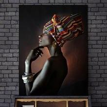 Африканская черная Обнаженная женщина индийская повязка на голову