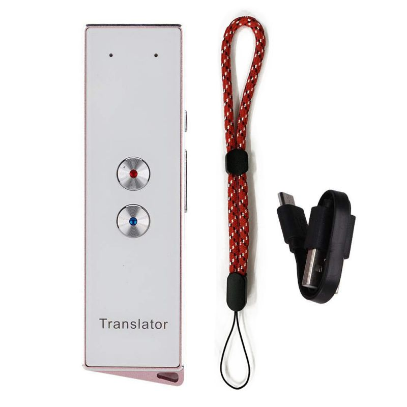 Smart Instant Real Time Voice Multi-Languages Translator Portable 40+ Language Translation Voice Translator with Hand Strap