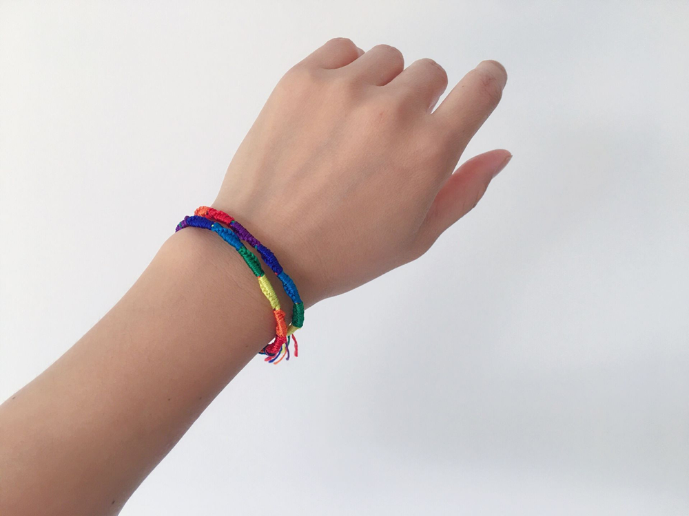 BangShou 2 Rollos Cuerda para Pulseras Colores Arcoiris Cuerda El/ástica 100m Cord/ón de Nailon de 1mm de Di/ámetro Cord/ón de Hilo de Abalorios de Colores