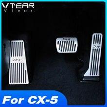 Vtear для Mazda CX5 мазда CX5, аксессуары для CX-5, автомобильный акселератор, подставка для ног, педаль тормоза, алюминиевые автомобильные педали, для...