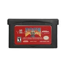 Cartucho de videojuegos para Nintendo GBA, tarjeta de consola Doom 2, versión en Inglés US