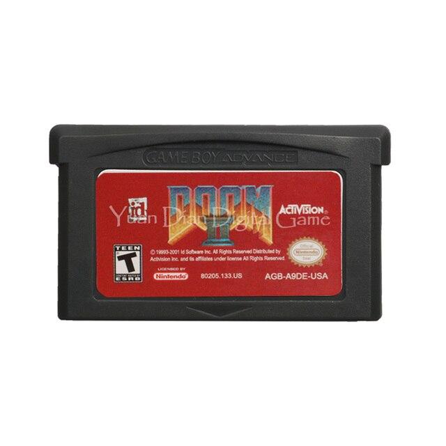 Per Nintendo GBA Cartuccia del Video Gioco Console Carta di Doom 2 Lingua Inglese Versione DEGLI STATI UNITI