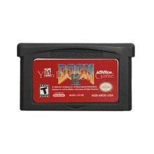 Pour Nintendo GBA jeu vidéo cartouche Console carte Doom 2 langue anglaise Version américaine