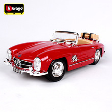 Bburago 1:18 1957 Mercedes 300SL  car alloy model simulation decoration collection gift toy Die casting boy