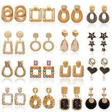 Big Metal Statement Earrings 20 Style Unique Geometric Accessories For Women Hanging Stud Modern Party Jewelry 2019 New