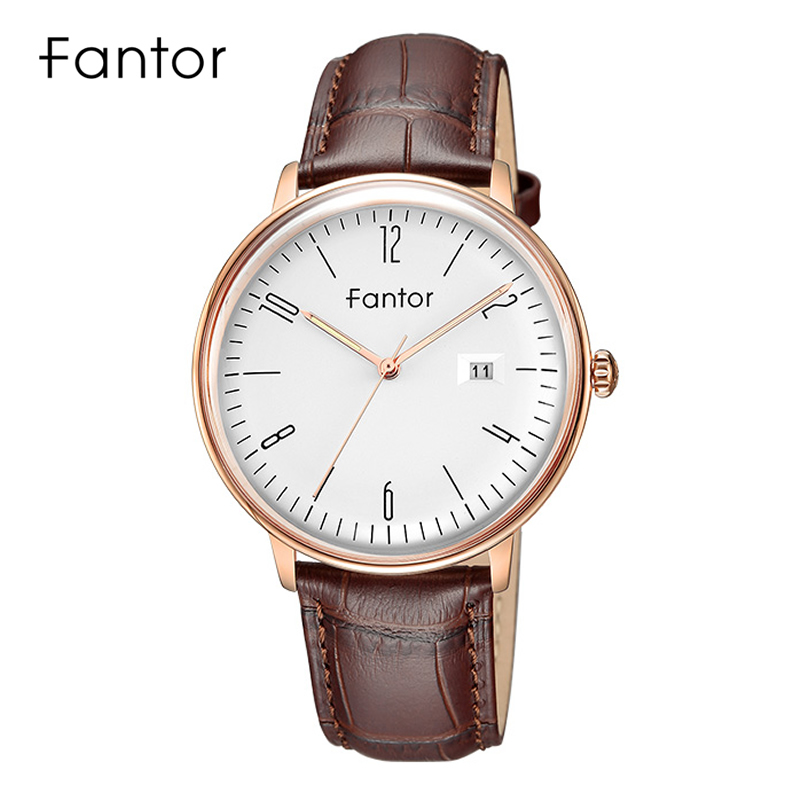 Image 2 - Fantor Business Men Watch Top Brand Luxury Classic Man Genuine Leather Waterproof Men's Quartz Wristwatch Date Luminous Hand-in Кварцевые часы from Ручные часы on AliExpress - 11.11_Double 11_Singles' Day