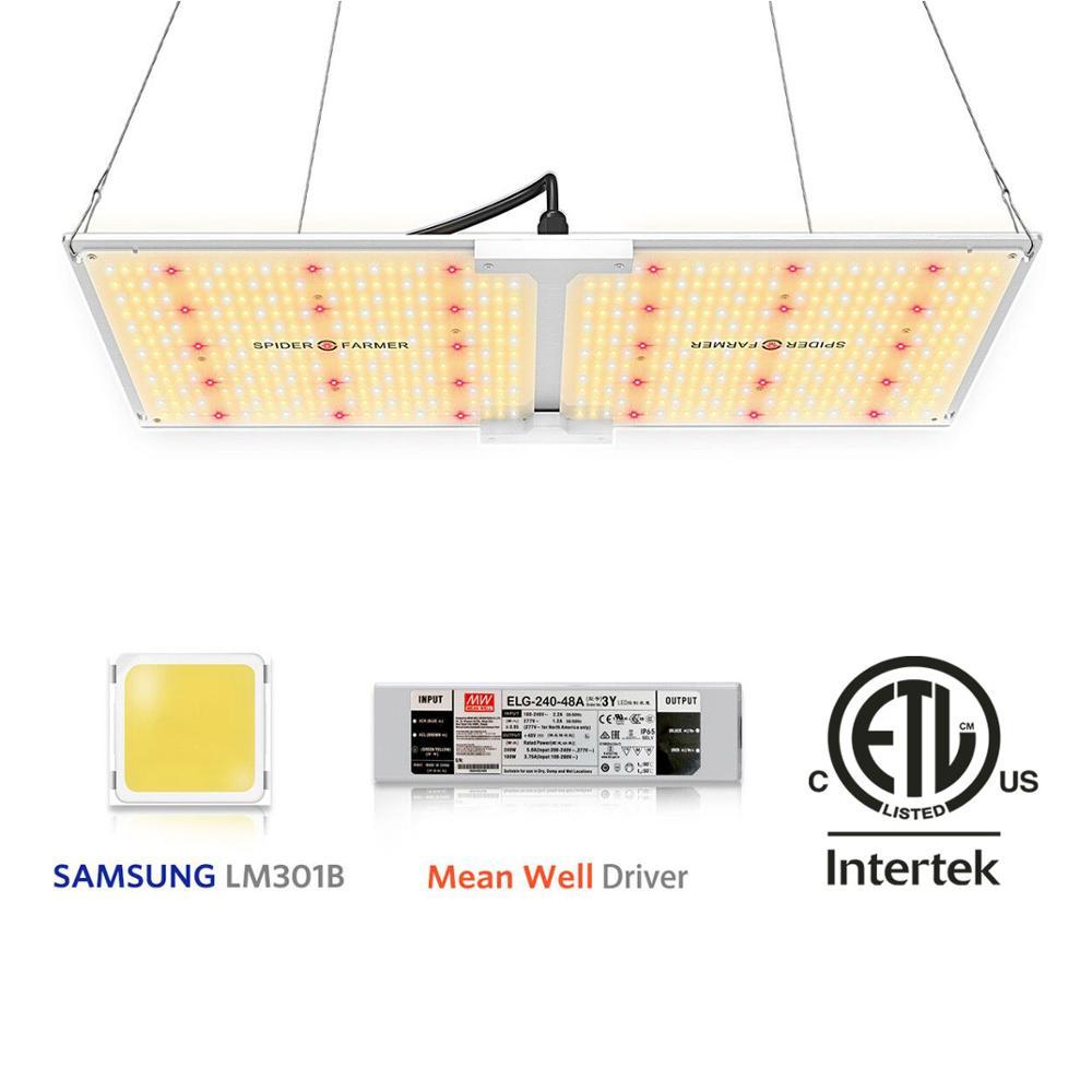 Spider Farmer Led Luz de crecimiento 2000W Luz de crecimiento interior para plantas tablero cuántico lm301b Samsung Meanwell controlador espectro completo