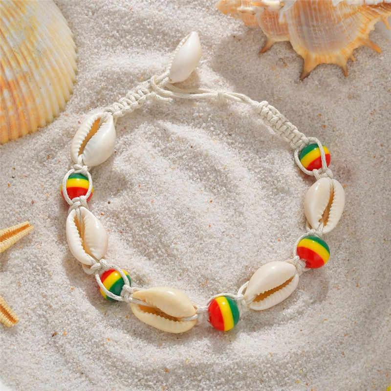 Łańcuszek na kostkę dla kobiet biżuteria stóp plaża Barefoot sandały bransoletka łańcuszek na kostkę na nogi kostki pasek Boho akcesoria
